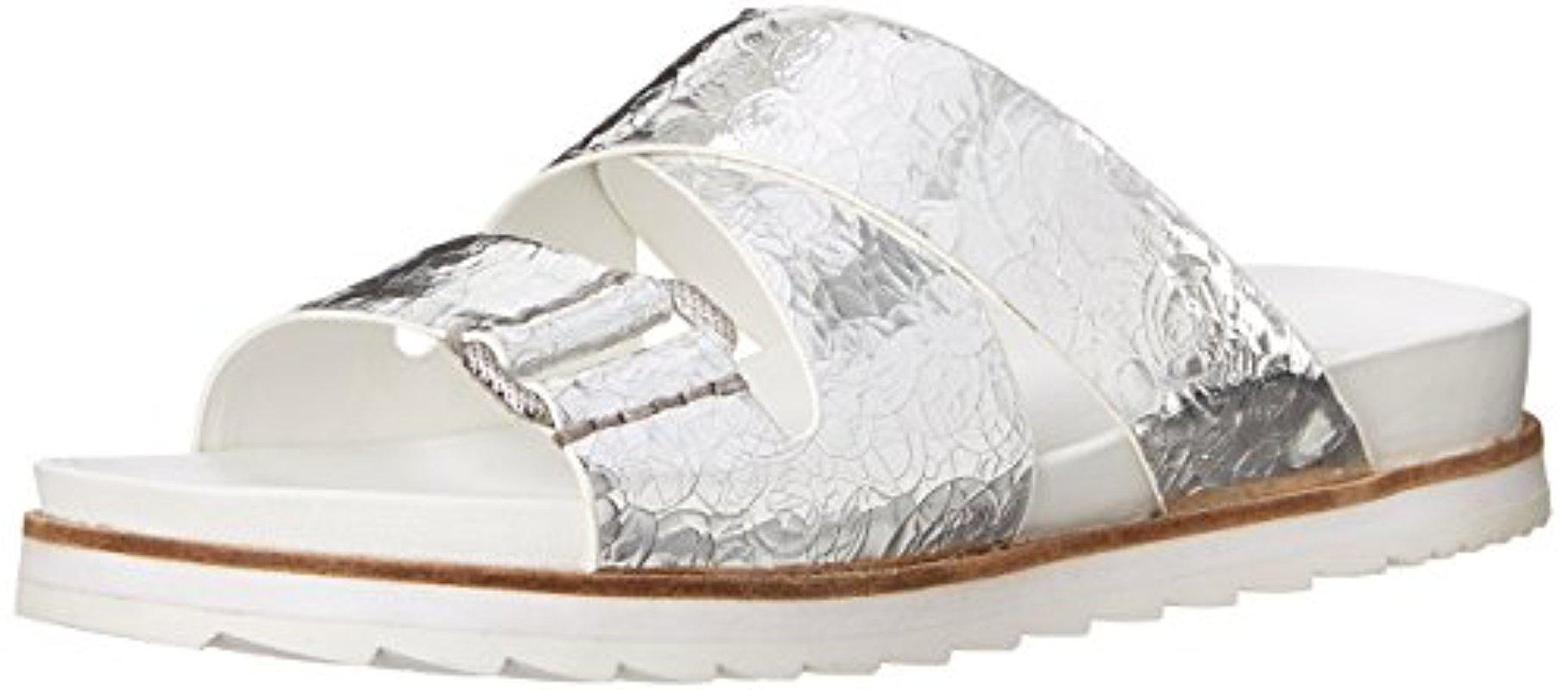 Womens Sandals Calvin Klein Jeans Valeri Silver Metallic