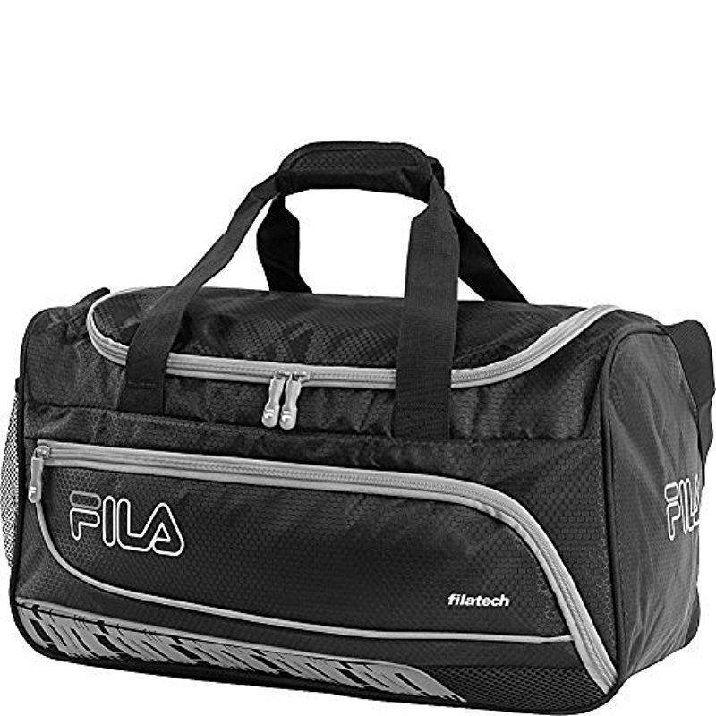 Lyst - Fila Lasers Small Sports Duffel Bag Gym Bag in Black for Men 039fd11b333fb