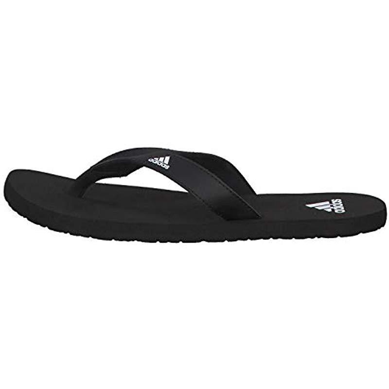 06a86117f6196 Adidas - Black Eezay Flip Flop Beach   Pool Shoes for Men - Lyst. View  fullscreen