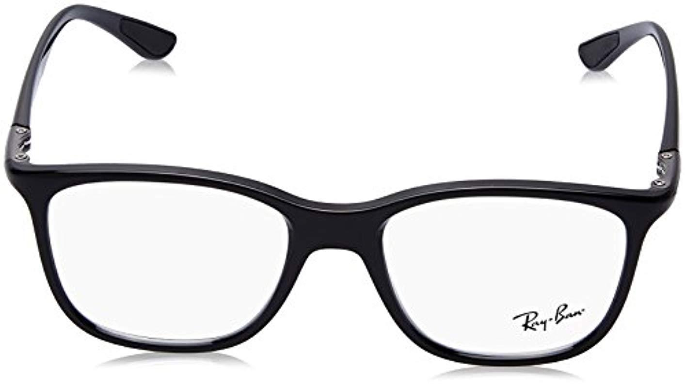 d2dc172959 Ray-Ban Rx7143 Glasses In Black Rx7143 2000 51 in Black for Men - Lyst
