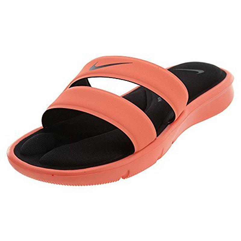 Nike. Women's Black Ultra Comfort Slide Sandal