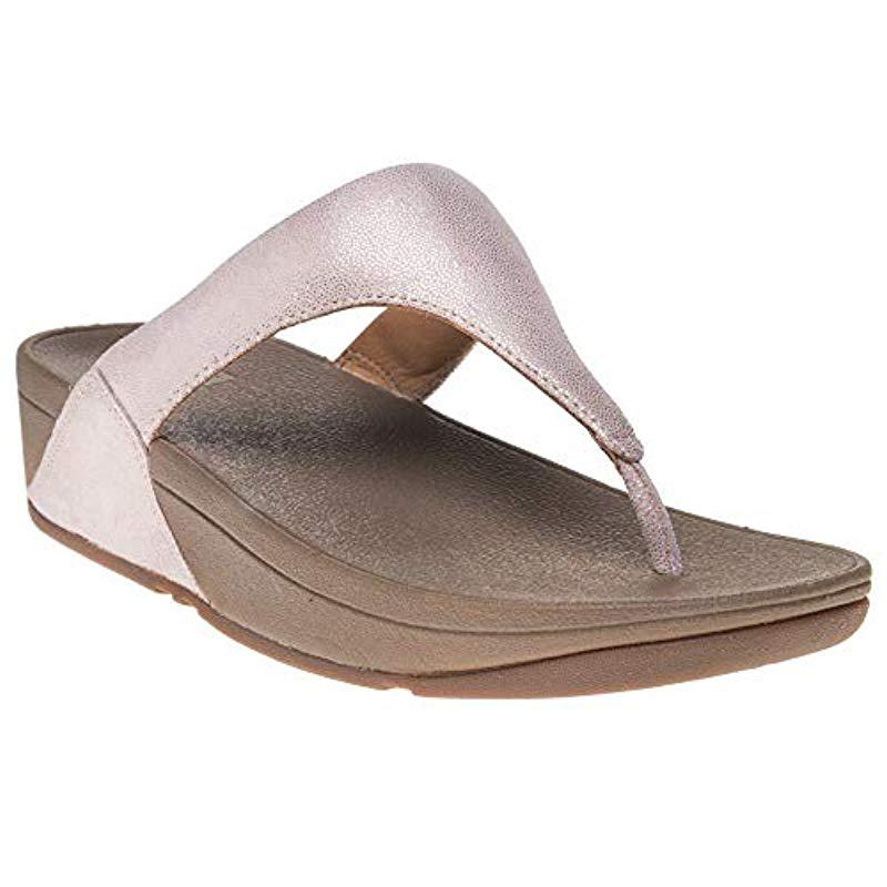 93c8ba180f07 Lyst - Fitflop Shimmy Suede Toe-thong Sandals Flip-flop in Brown ...