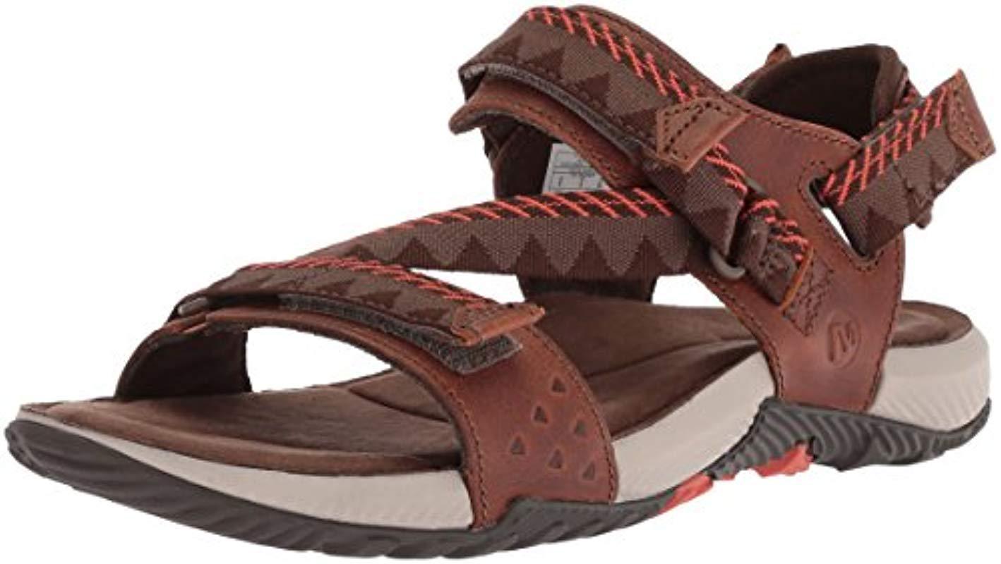 c4a73c603fea Merrell Terrant Convert Open Toe Sandals in Brown for Men - Lyst