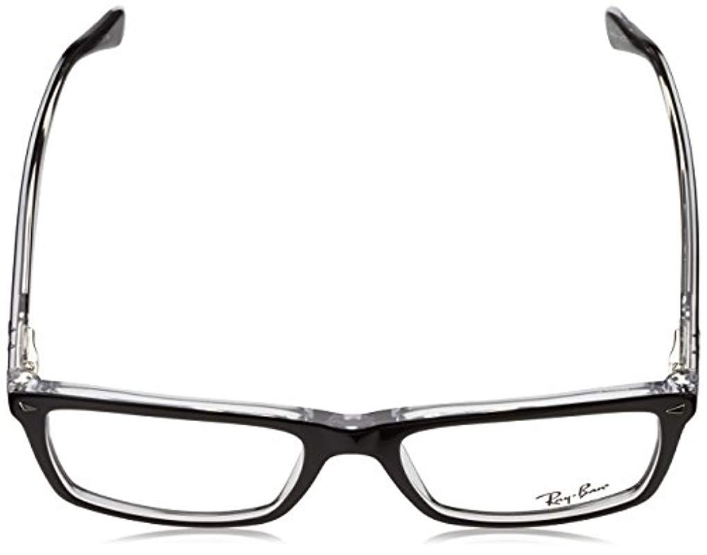 274c4e05d3d Ray-Ban - Rx5287 Glasses In Black Rx5287 2000 54 for Men - Lyst. View  fullscreen