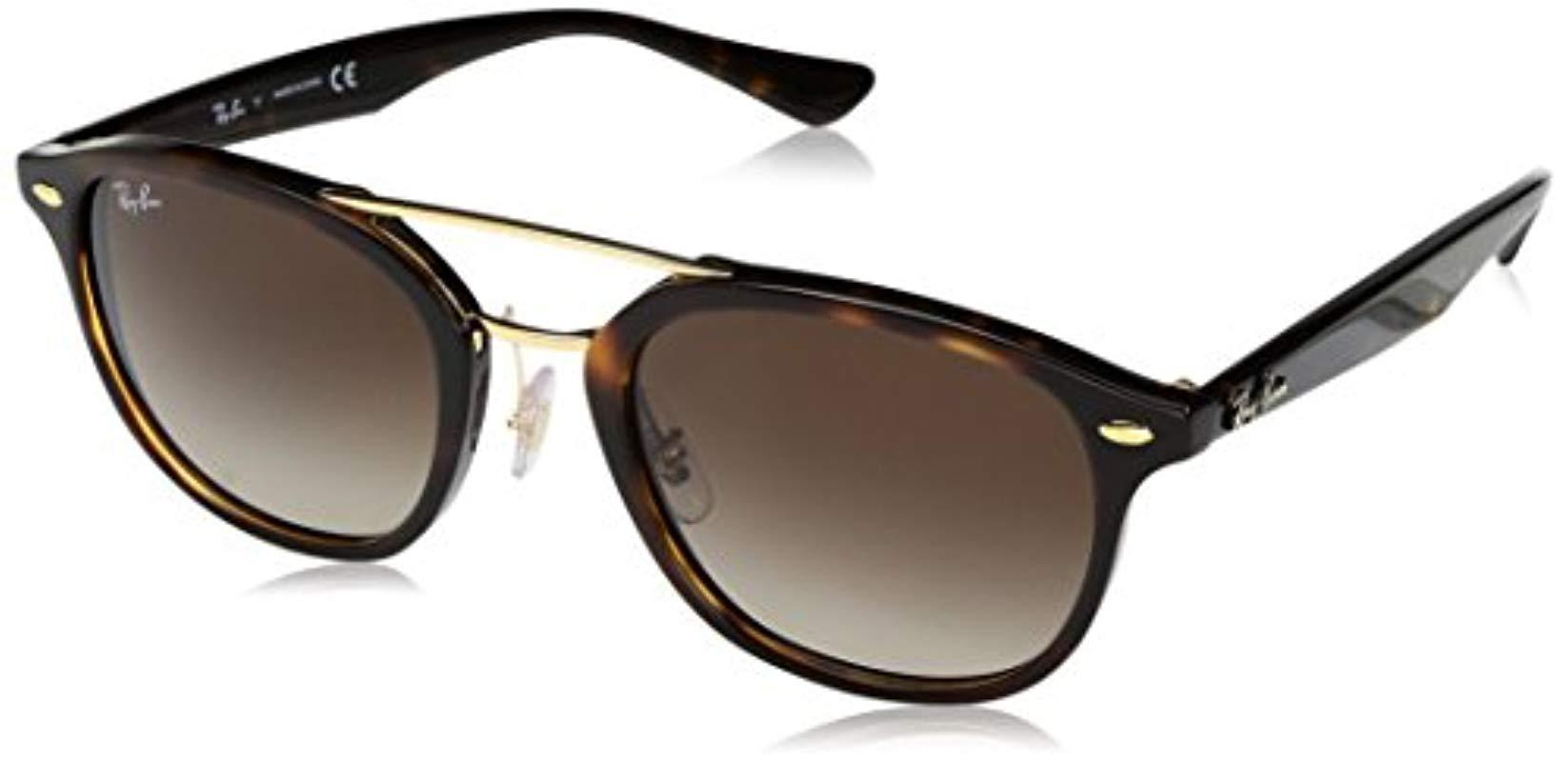c16da69ae31c Ray-Ban Classic Double Bridge Sunglasses In Havana Brown Rb2183 ...