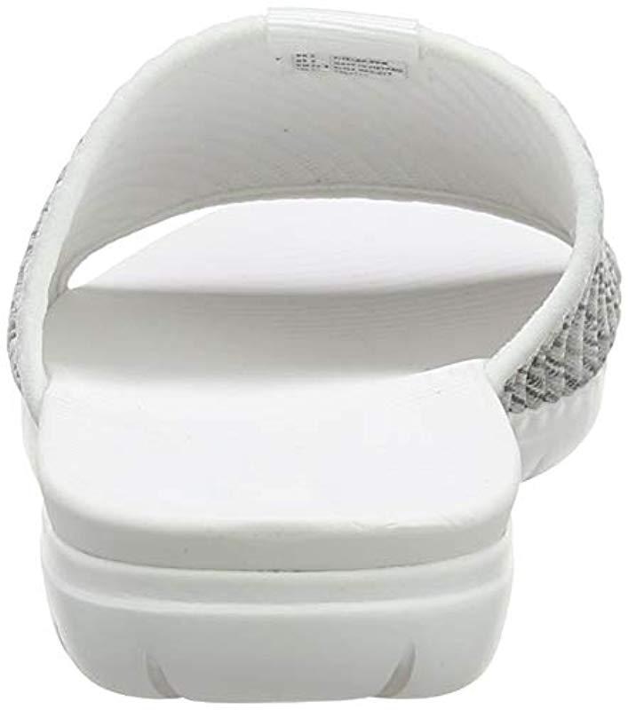 7f3629af3 Fitflop  s Artknit Olivia Pool Slide Open Toe Sandals in White - Lyst