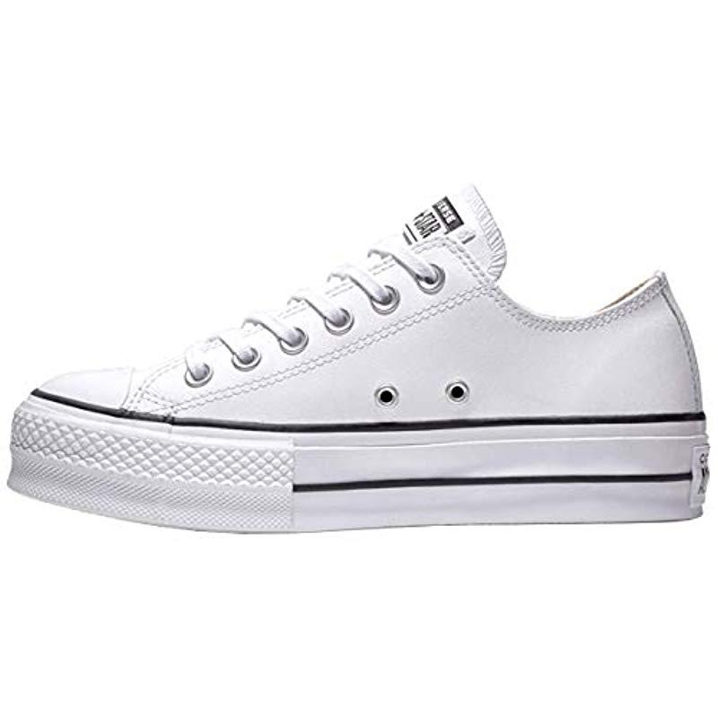f8c13888219dd Converse - Ctas Lift Clean Ox Black white Low-top Sneakers - Lyst. View  fullscreen