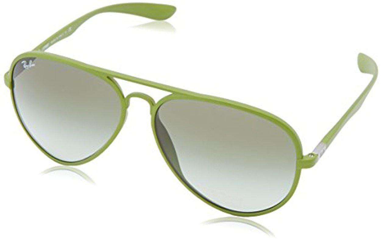 fb9512daf7 Lyst - Ray-Ban Aviator Liteforce - Metallized Green Frame Green ...