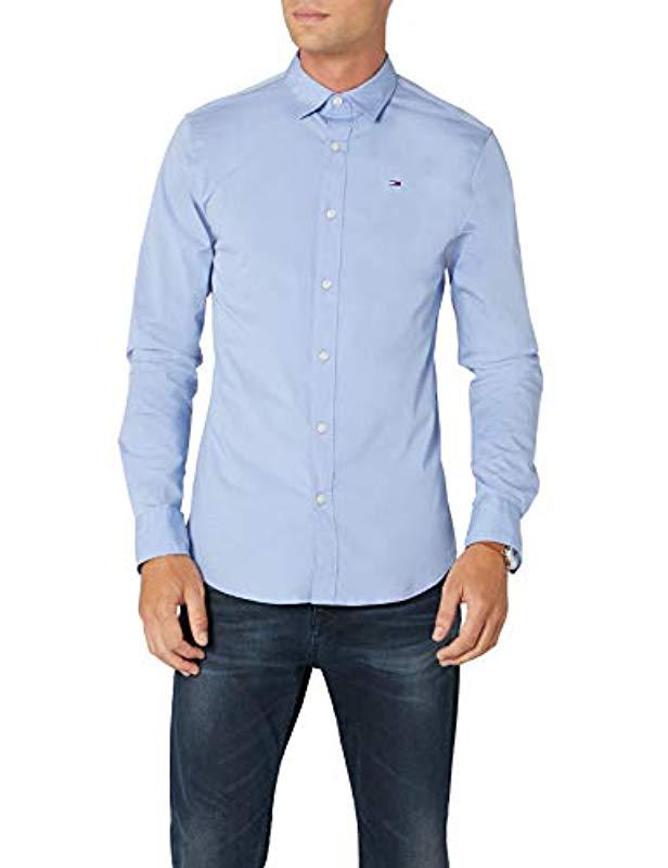 746dca54 Tommy Hilfiger Original Stretch Casual Shirt in Blue for Men - Lyst