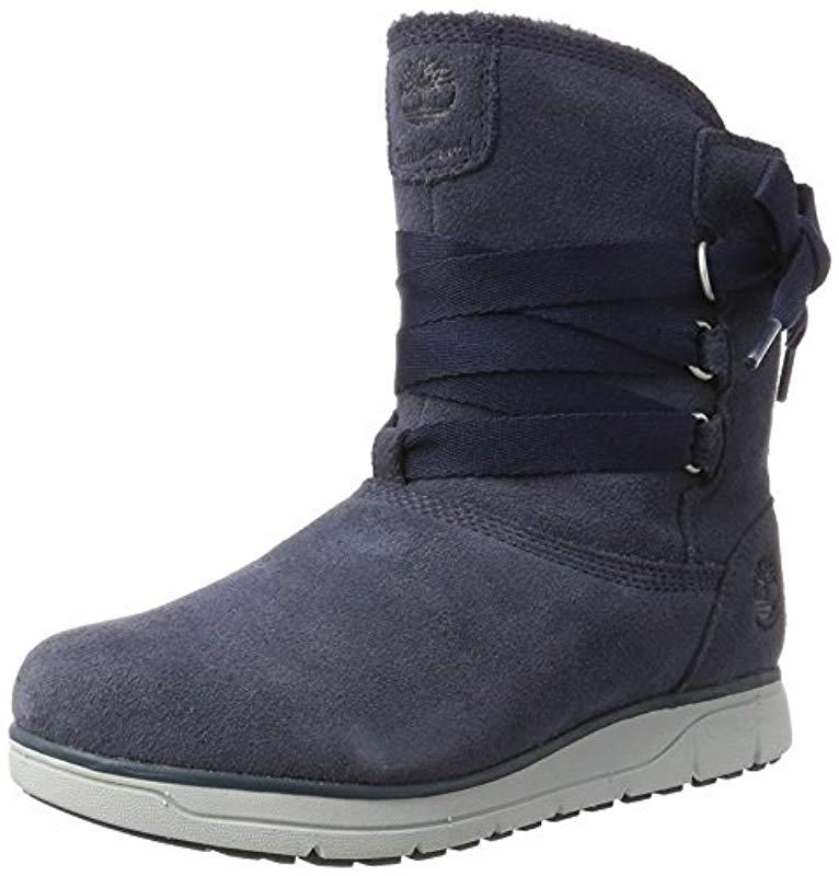 Timberland  s Leighland Boot in Blue - Lyst 2f7ce21f94d3