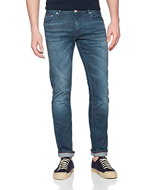 d0e6cec5 Tommy Hilfiger Bleecker-pstr Ucon Greenblue Slim Jeans in Blue for ...