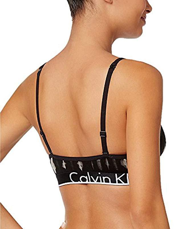 98b9a68c2867 Lyst - Calvin Klein Id Cotton Large Waistband Triangle Unlined Bra ...
