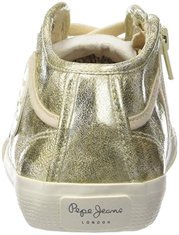 c94b1694ee0 Pepe Jeans Industry Met Trainers in Metallic - Lyst