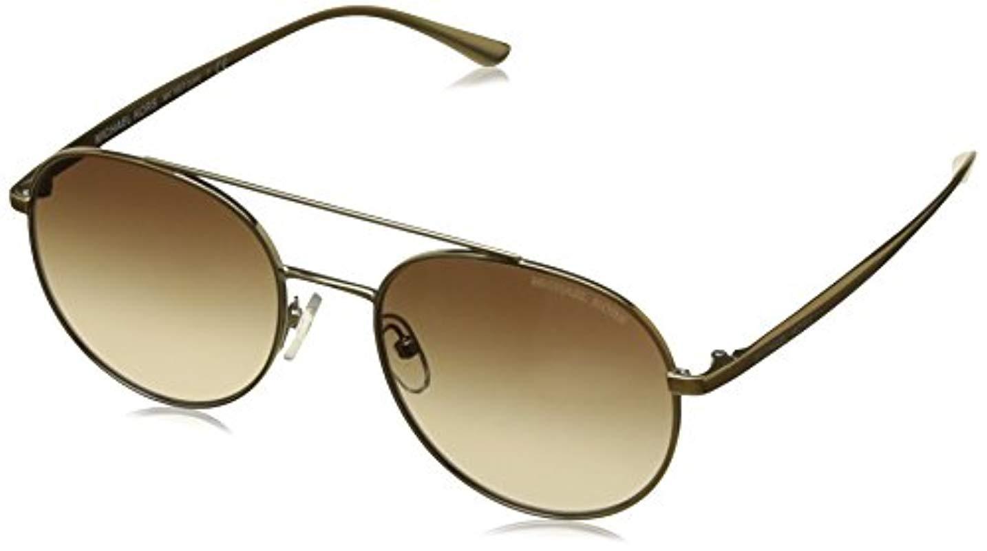 0ec2cadb5 Michael Kors 1021 Lon 116813 53 Rectangular Sunglasses 53, Gold-tone ...