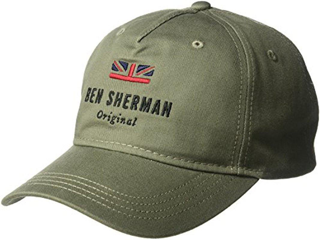 41c3cf4cb8566 ... spain ben sherman green original baseball cap for men lyst. view  fullscreen 20376 7b91e ...
