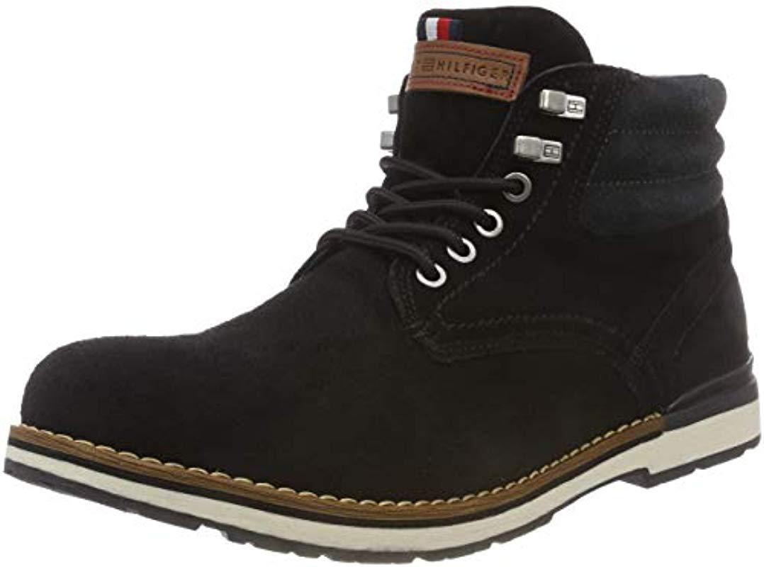 23f38a77c3c333 Tommy Hilfiger  s Outdoor Suede Boot Combat in Black for Men - Lyst