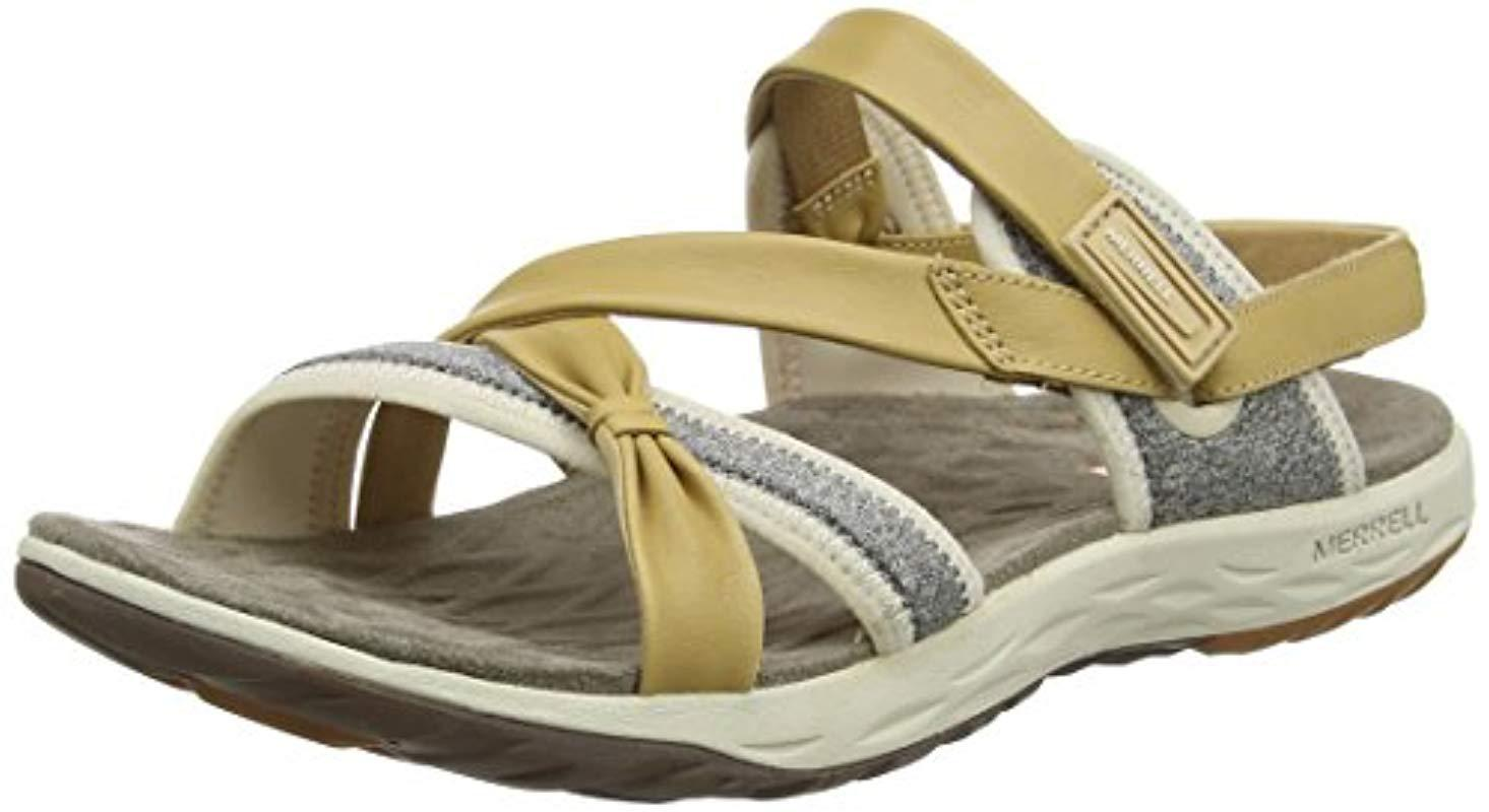 7a3efb1eabc5 Merrell  s Vesper Lattice Flat Sandals in Brown - Lyst