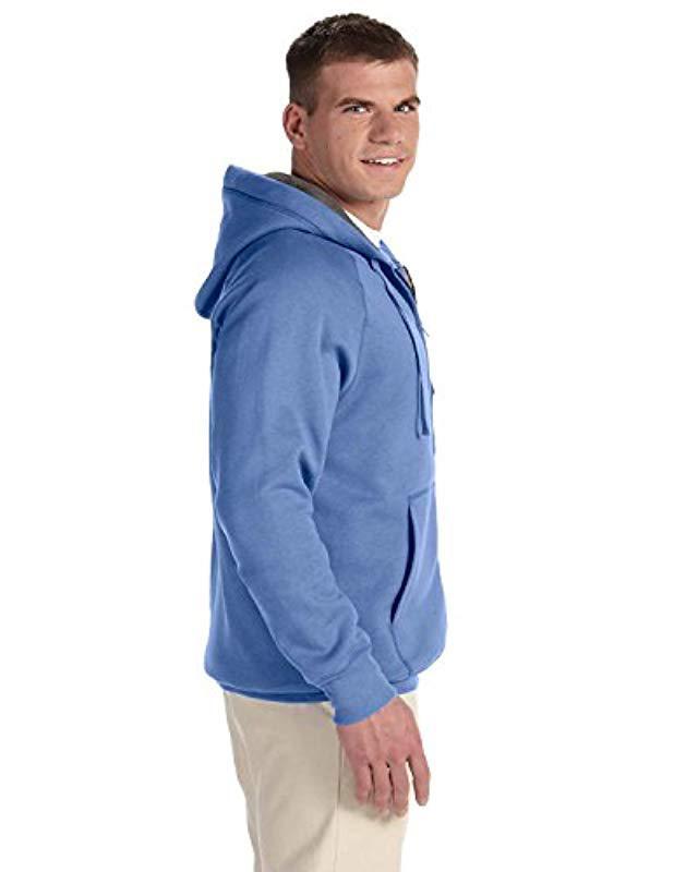 e073b052d Lyst - Hanes Nano Premium Lightweight Fleece Hoodie in Blue for Men