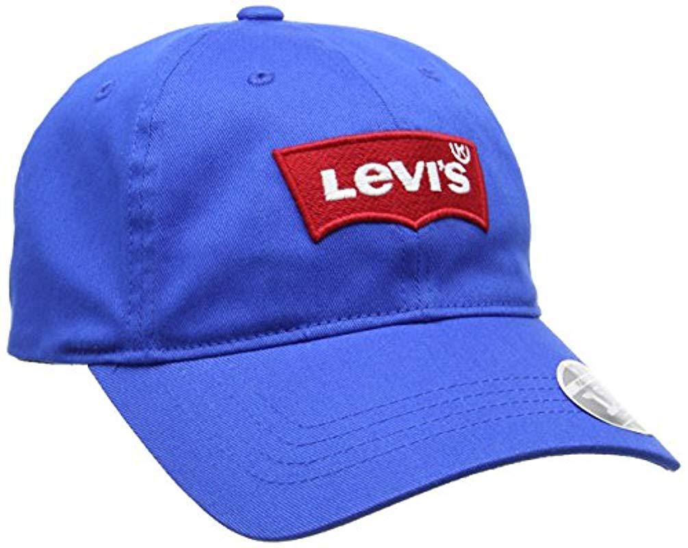 647c86bc Levi's Big Batwing Flex Fit Flat Cap in Blue for Men - Save ...