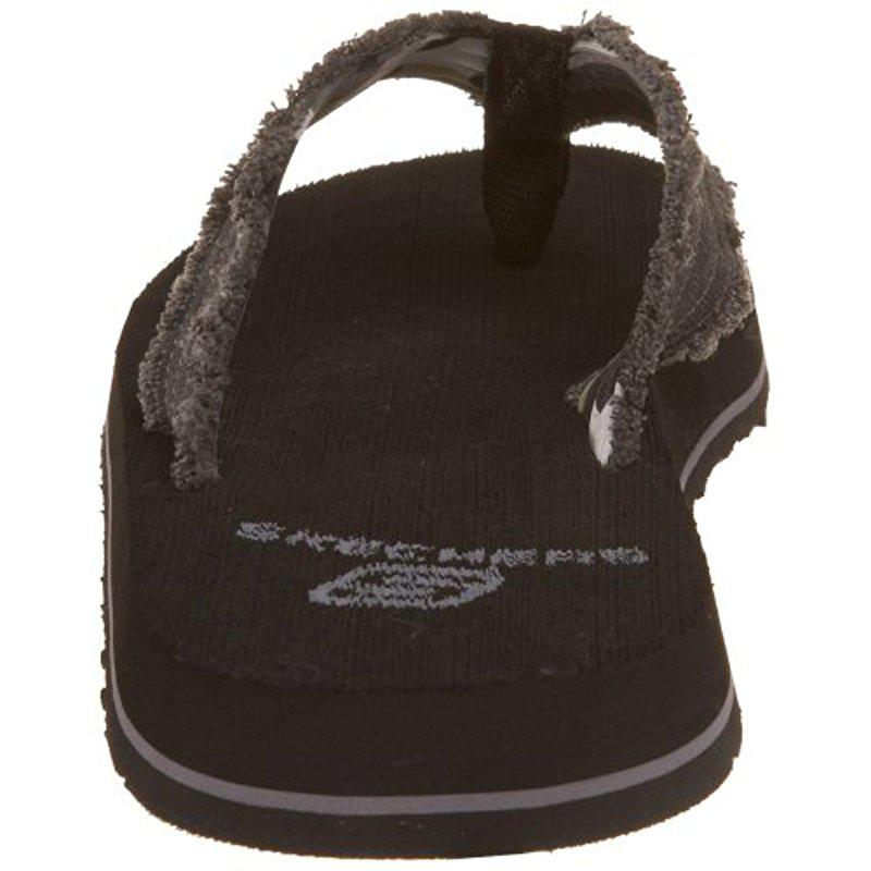 2c1e9a94a9fa Lyst - Skechers Usa Fray Cotton Thong in Black for Men