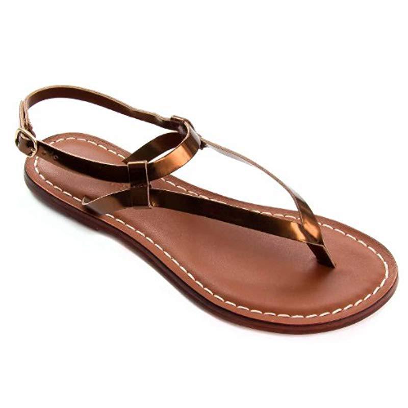 478b0607ad8 Lyst - Bernardo Merit Flat Sandal in Brown