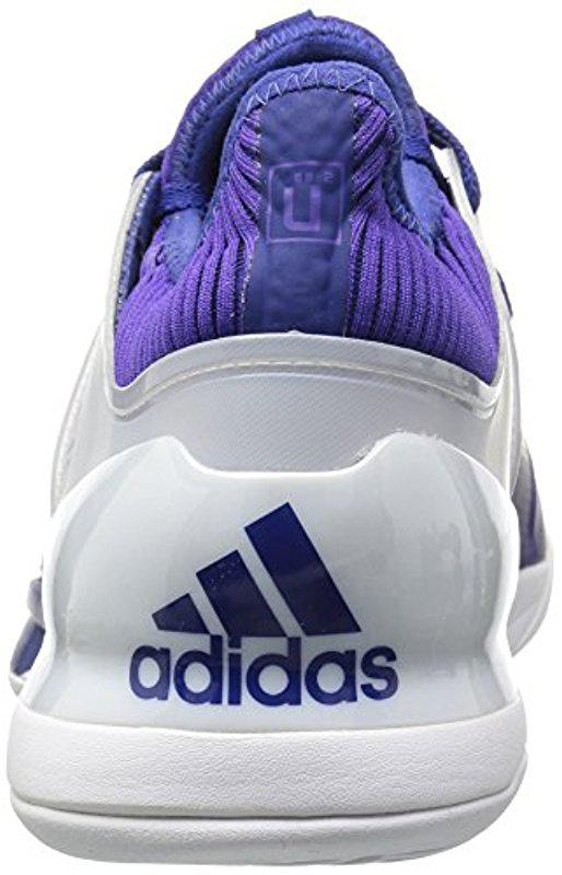 sale retailer 75778 c89e8 Adidas - Blue Adizero Ubersonic 2 Tennis Shoe for Men - Lyst. View  fullscreen