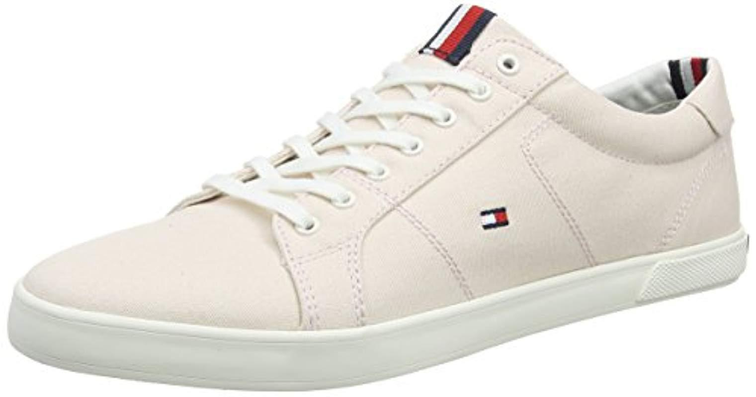 5c341cee90ab Tommy Hilfiger  s Iconic Long Lace Sneaker Low-top Grey for Men - Lyst