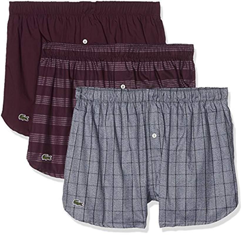 6e104c01507cb4 Lacoste Boxer Shorts Pack Of 3 for Men - Lyst