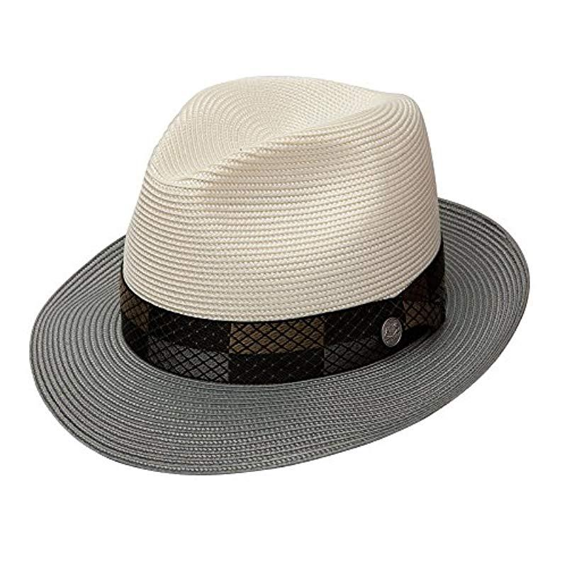 483aa0b561ec4a Lyst - Stetson Andover Florenine Milan Straw Hat in White for Men