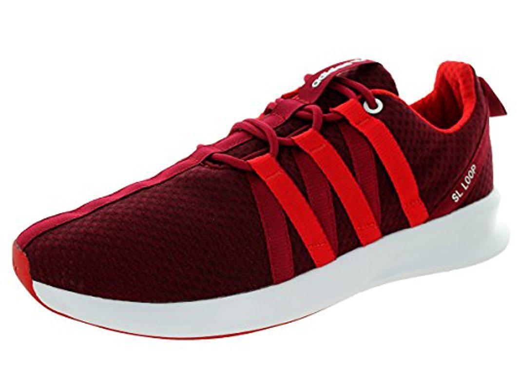 Lyst adidas Originals SL Loop estilo Racer zapatilla en rojo para hombres