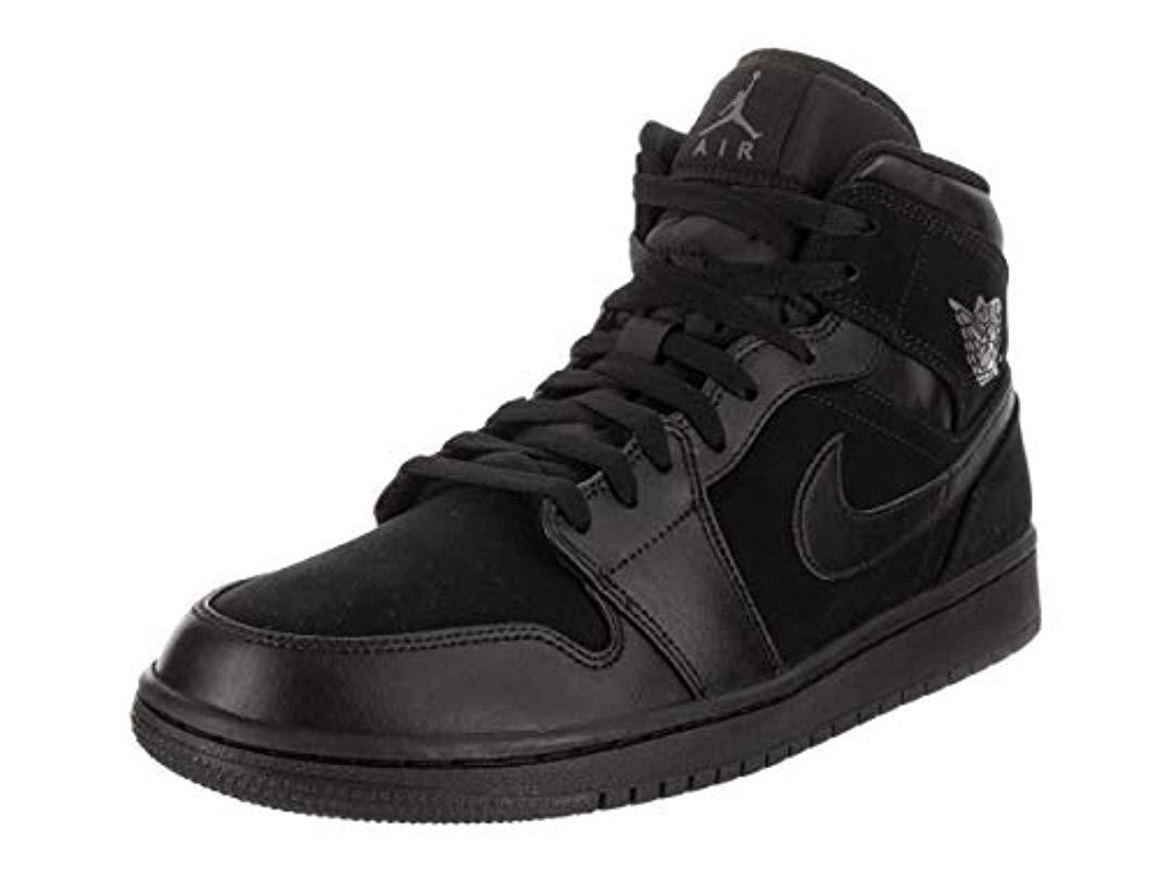 1357c650b73fd4 Nike Air Jordan 1 Mid Shoe Basketball in Black for Men - Lyst