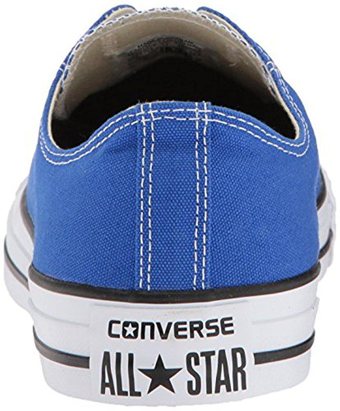 Lyst - Converse Chuck Taylor All Star Seasonal Canvas Low Top Sneaker in  Blue ceb3d11dd