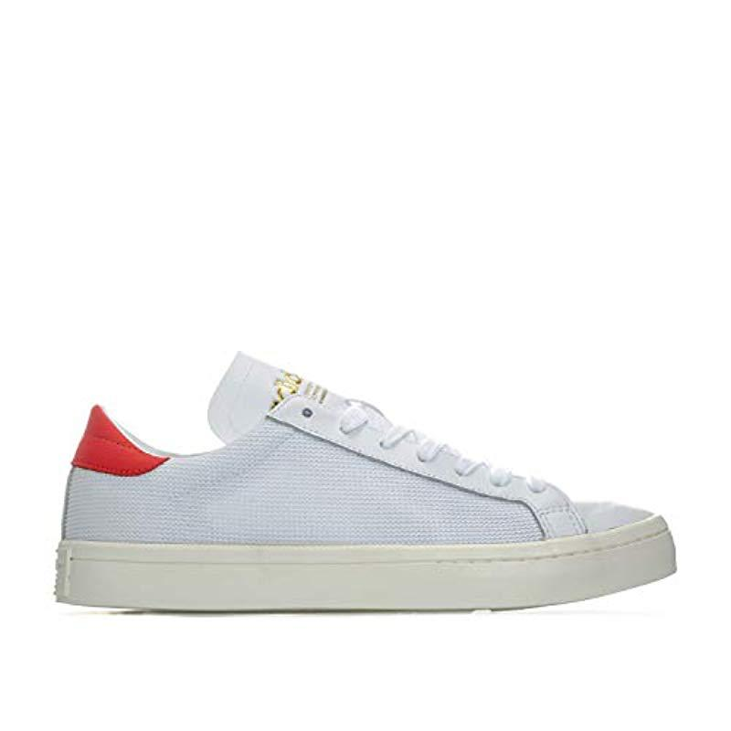 newest 85d57 ecaf4 adidas-White-Red-Unisex-Adults-Courtvantage-Trainers-Turquoise-5.jpeg