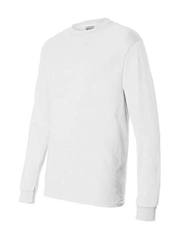 ac582887fe6 Lyst - Hanes Long-sleeve Comfortsoft T-shirt (pack Of 4) in White ...