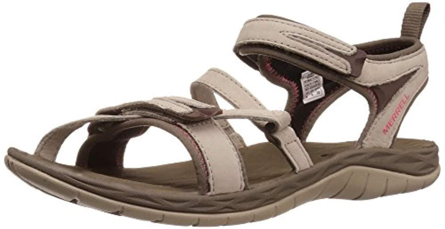 Merrell Siren Strap Q2 Open Toe Sandals in Gray - Lyst ffa0a47aa7