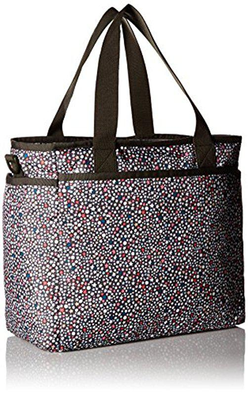 c79e3a357 LeSportsac Ryan Baby Tote Carry On Bag in Black - Lyst