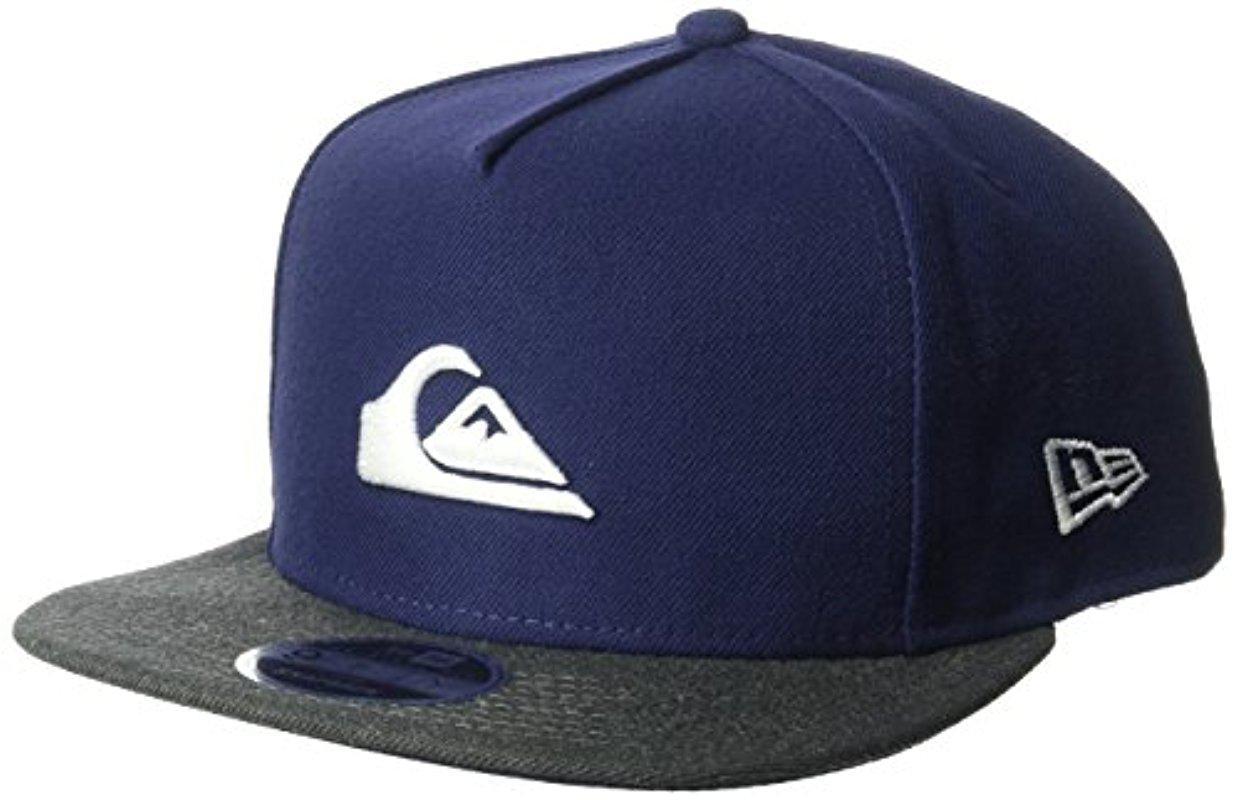 047e541225a ... purchase quiksilver sideliner flex cap quiksilver. mens blue stuckles  snap trucker hat 7bf33 e7cbd