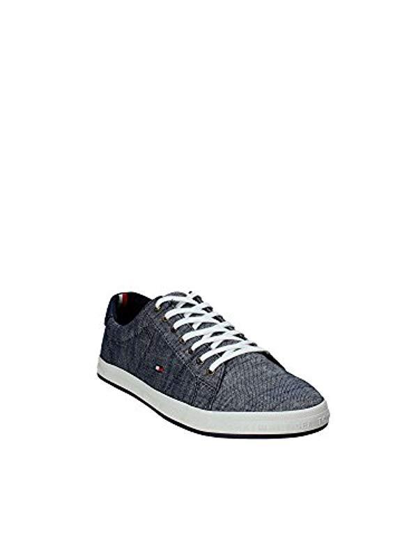 Gray Essential Top In Low Sneaker Denim Beige Pique Tommy Hilfiger w5C7zqnP