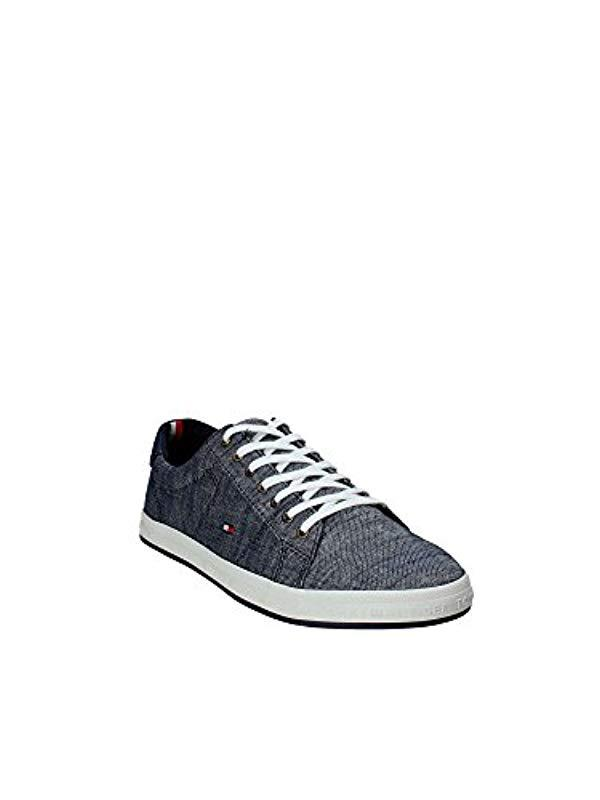 Low Tommy Pique Top Essential Gray Sneaker In Beige Hilfiger Denim P7PwX