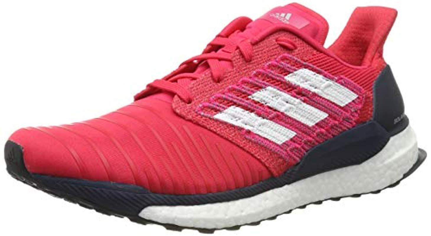 bfe9b43d17609 adidas Solar Boost M Running Shoes in Pink for Men - Lyst