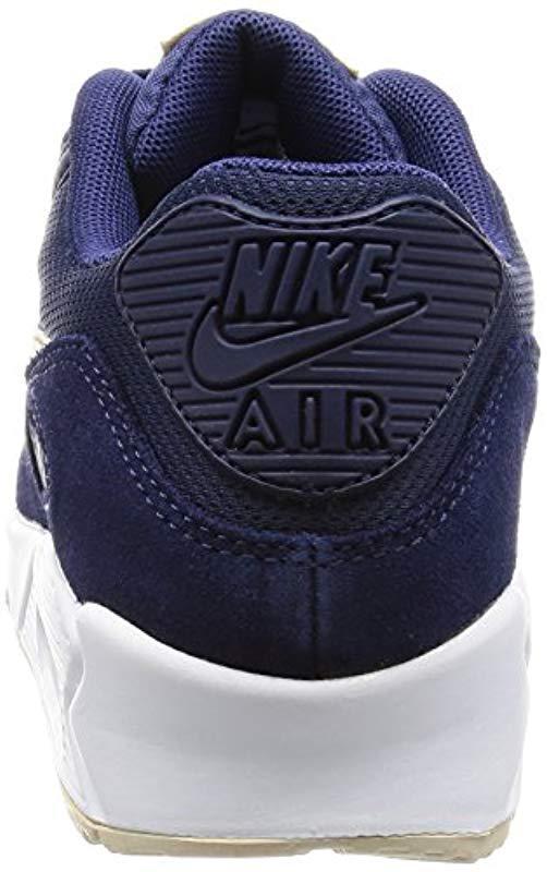 new concept 344a6 dfde7 Nike - Blue Wmns Air Max 90 Gymnastics Shoes - Lyst. View fullscreen