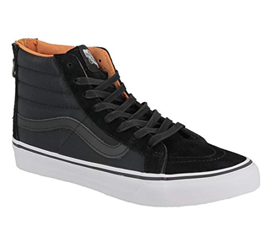 70f1a5b66096ba Vans Sk8 Slim Zip Hi-top Sneakers in Black for Men - Lyst