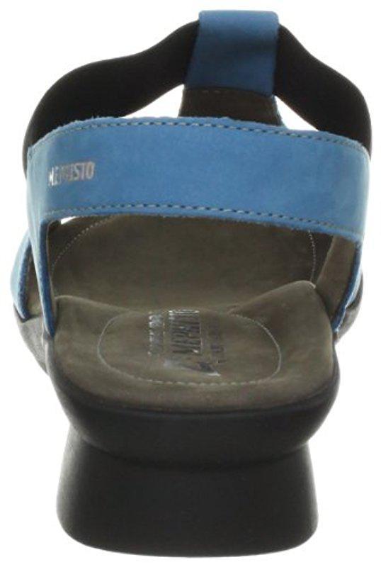 Mephisto - Blue Petrea Sandal - Lyst. View fullscreen d55aed913fc