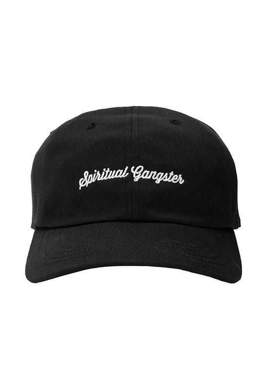 a11f9c6ca06 Lyst - Spiritual Gangster Script Dad Hat In Black in Black