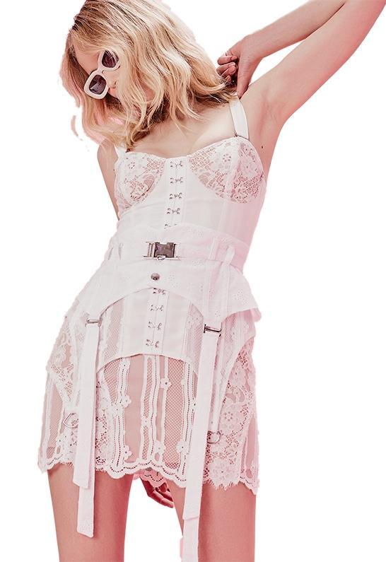d3a10df9f For Love & Lemons Alexandria Mini Dress In White in White - Lyst