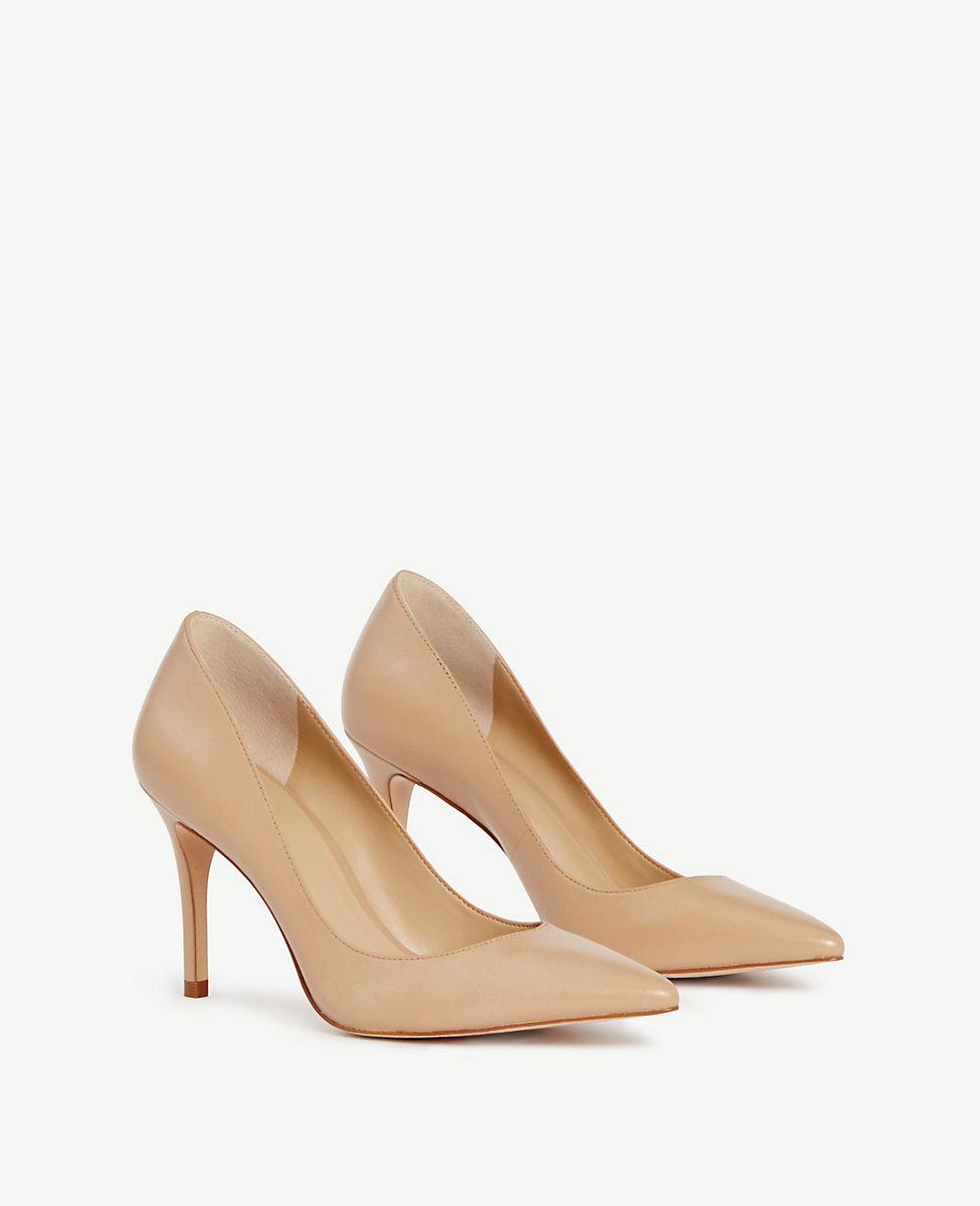 5d3a01827727 Lyst - Ann Taylor Mila Leather Pumps in Brown