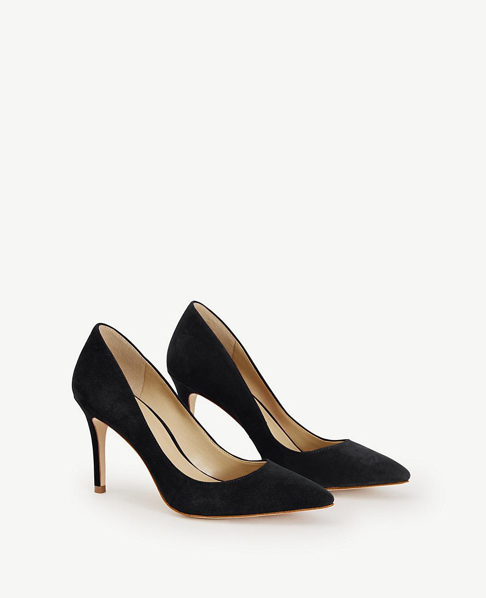 9e02680f894 Lyst - Ann Taylor Mila Suede Pumps in Black