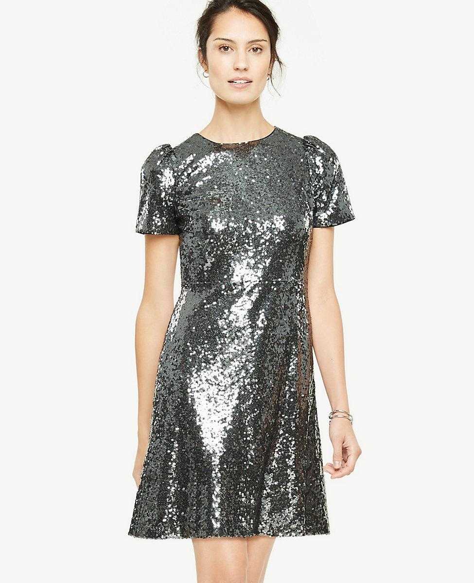 Lyst - Ann Taylor Sequin Shift Dress