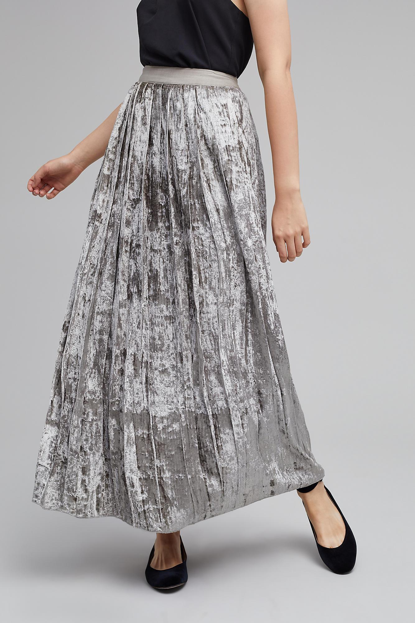 e57de9fd1c Gallery. Previously sold at: Anthropologie · Women's Metallic Skirts  Women's Pleated Skirts