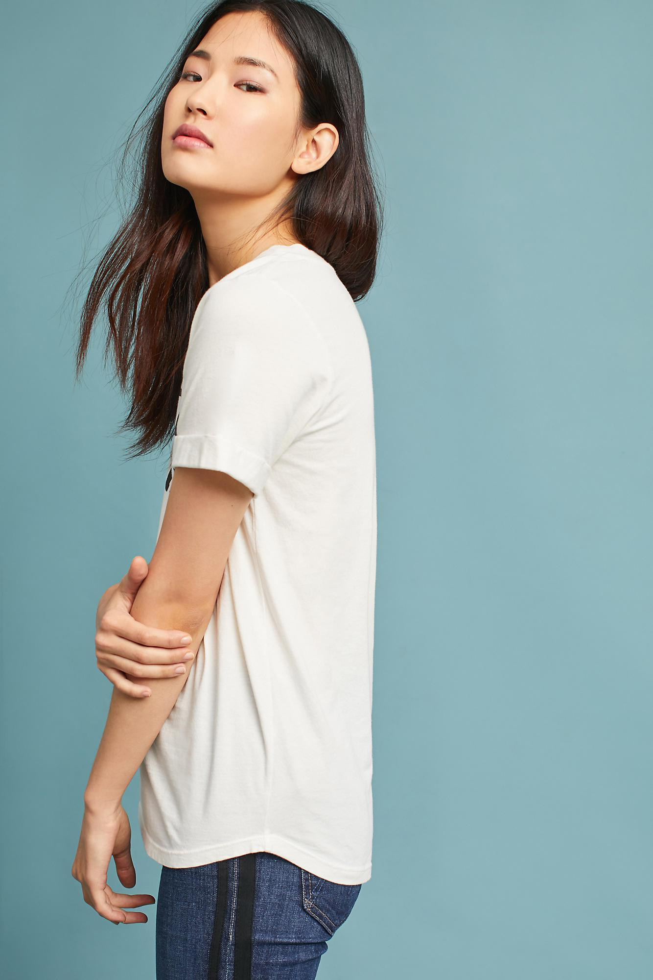 620fdb87 Sol Angeles Cuffed Graphic Tee in White - Lyst